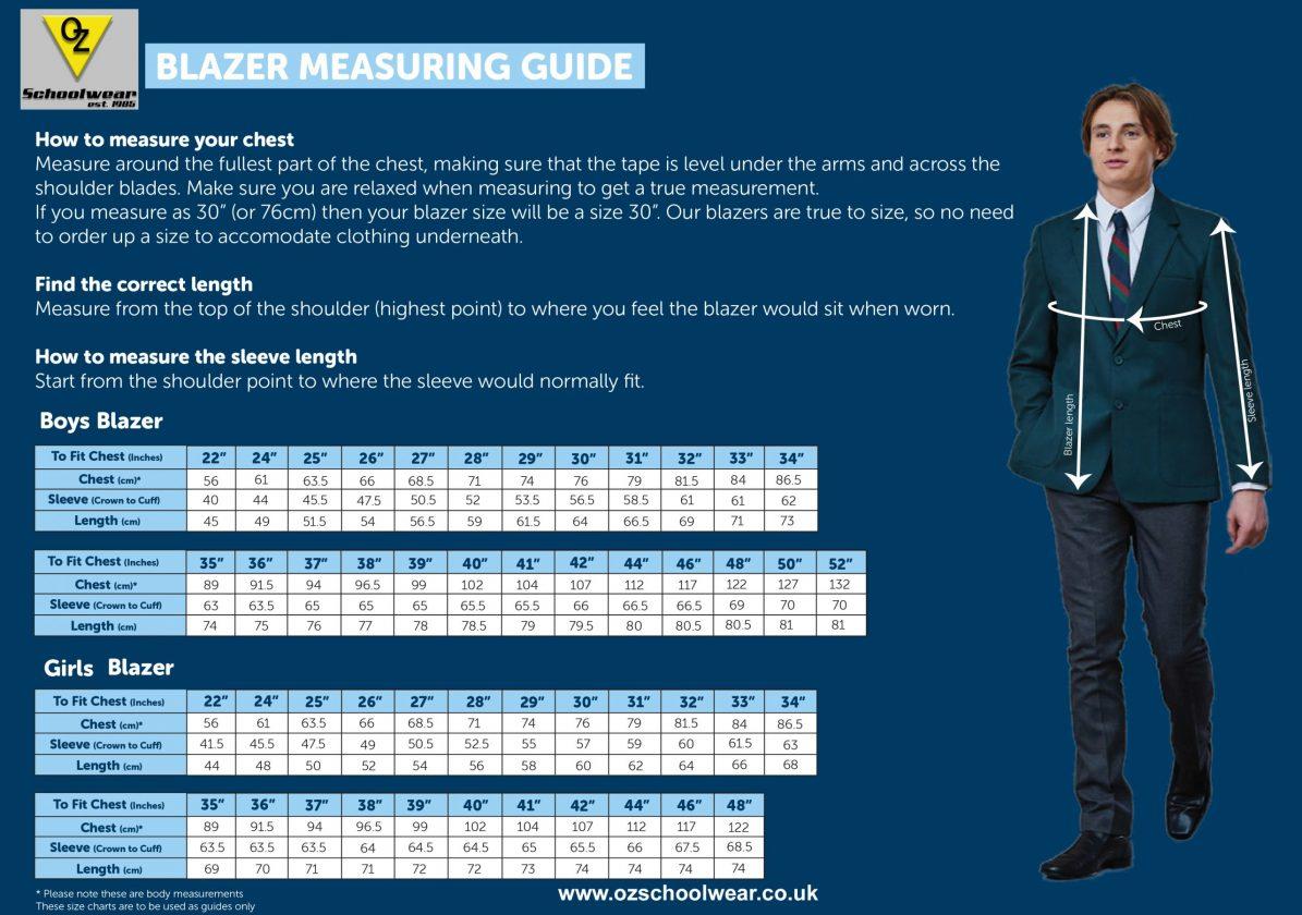 Blazer measuring guide